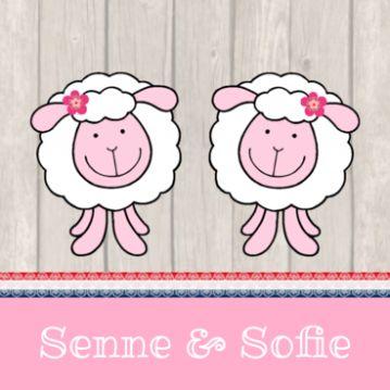 Geboortekaartje meerling schaap tweeling meisjes 311 JippieJippie