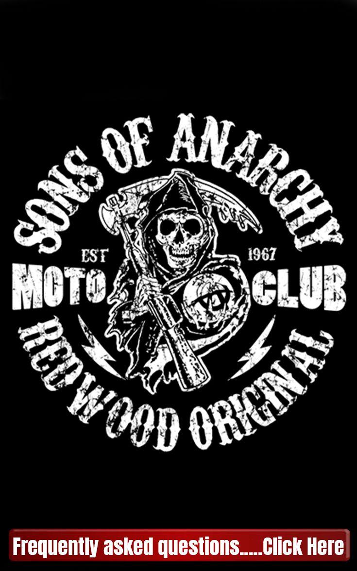 Sons of Anarchy Camiseta con Logo Samcro SOA T-Shirt 100/% Oficial