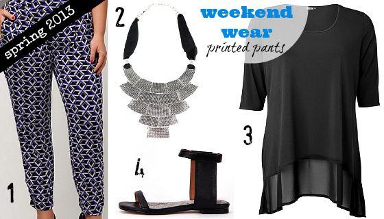 Spring 2013 wardrobe essentials | Weekend and casual wear | printed pants