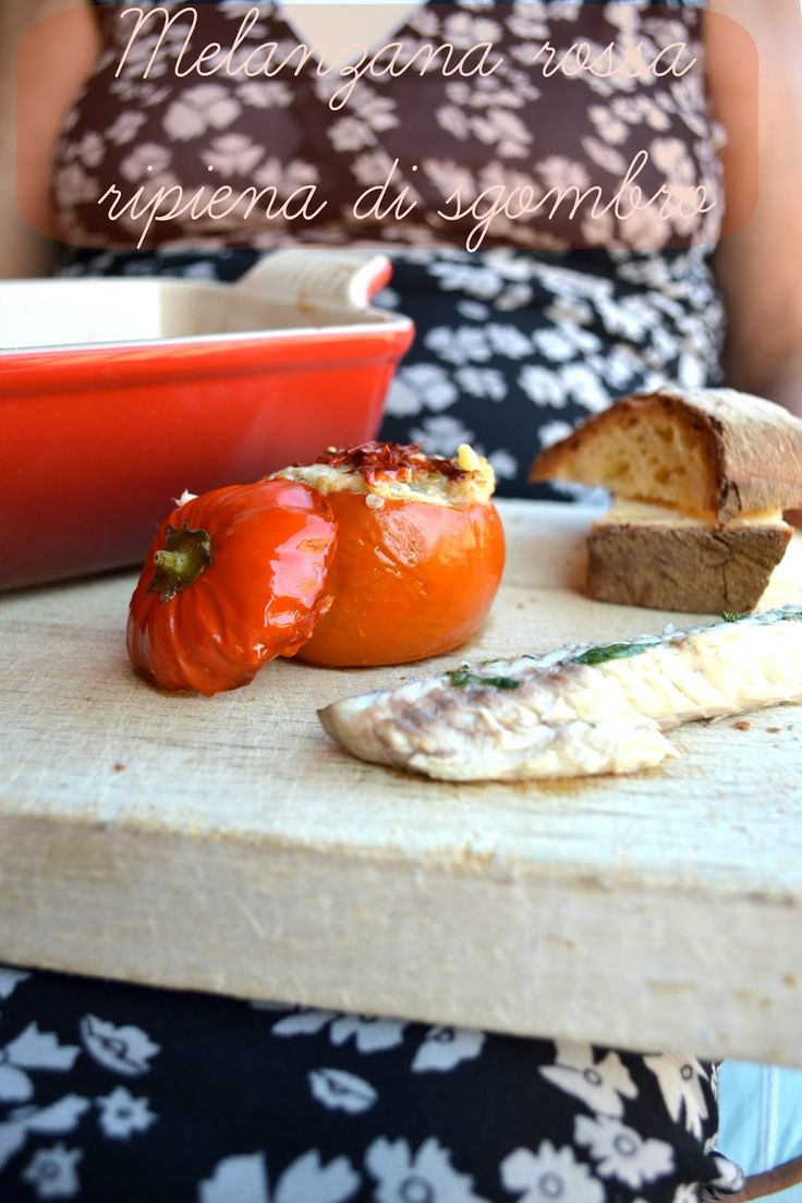 Cucina di Barbara food blog - blog di cucina ricette: Ricetta melanzane rosse di Rotonda ripiena con sgombro e pomodorini secchi