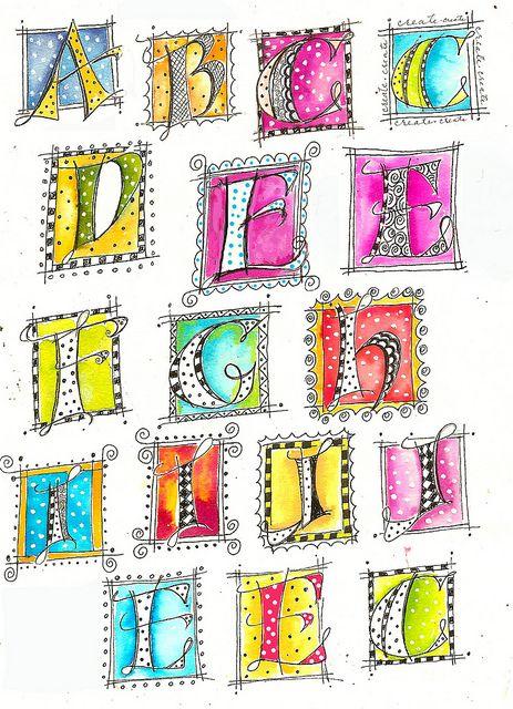 Martha Lever Doodled letters