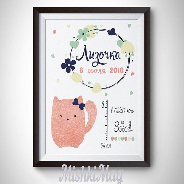 Улетел наш постер с котиком к малышке Лизочке и завтра уже будет вручен…