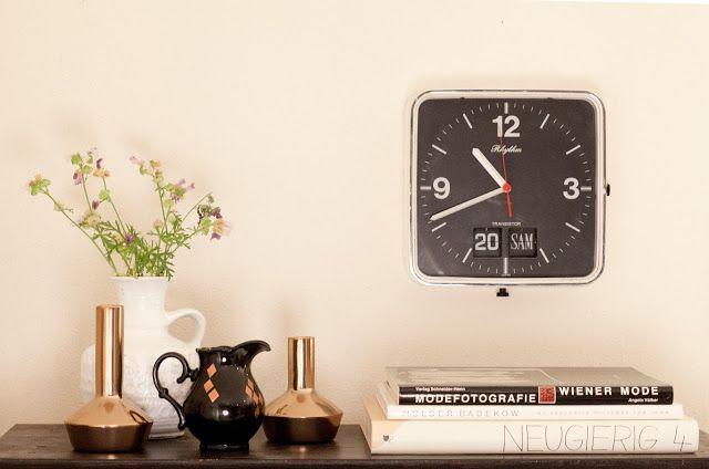 Copper all over...WOHN:PROJEKT..vintage clock.
