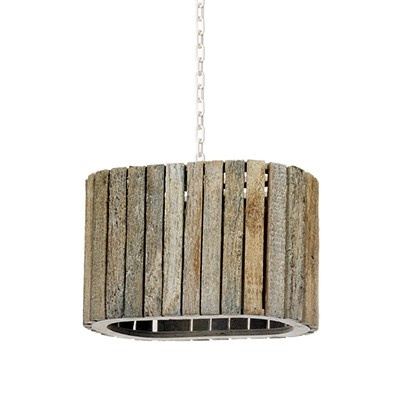 Wood Hanging Light Industrial Chic Wedding and Event Lighting
