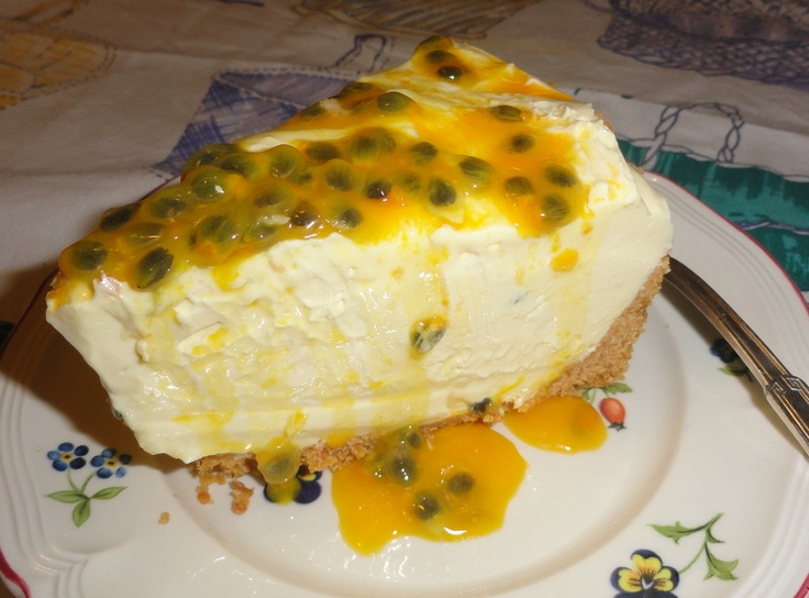 Passionfruit Cheesecake Delight A Yummy Down Under Australian Dessert | Foods Recipes