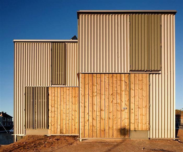 17 mejores ideas sobre casas industrializadas en pinterest - Muebles de chapa metalica ...