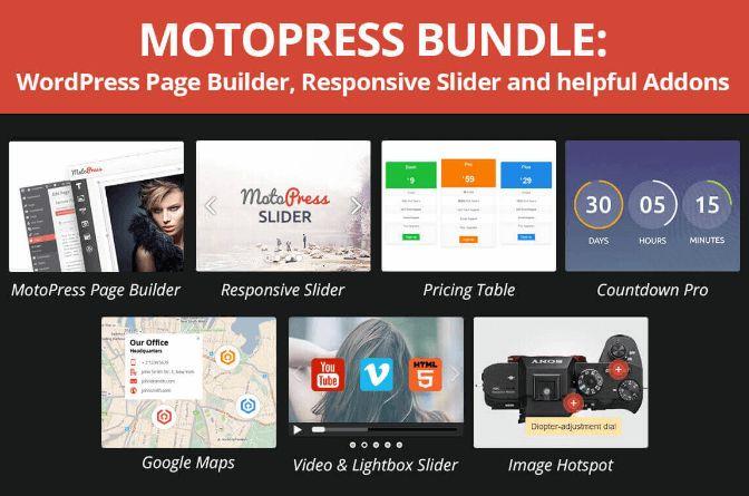 MotoPress z 6 dodatkami za 149 zł zamiast 435 zł // #WordPress