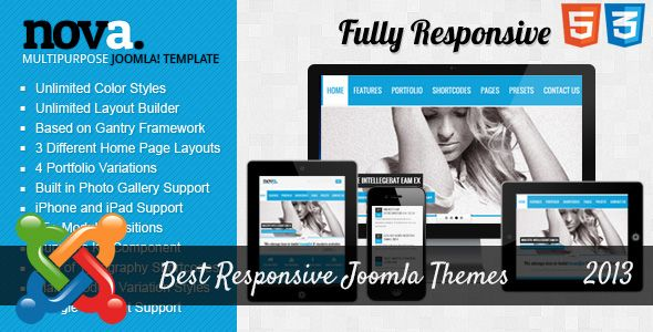 Best Responsive Joomla Themes for 2013