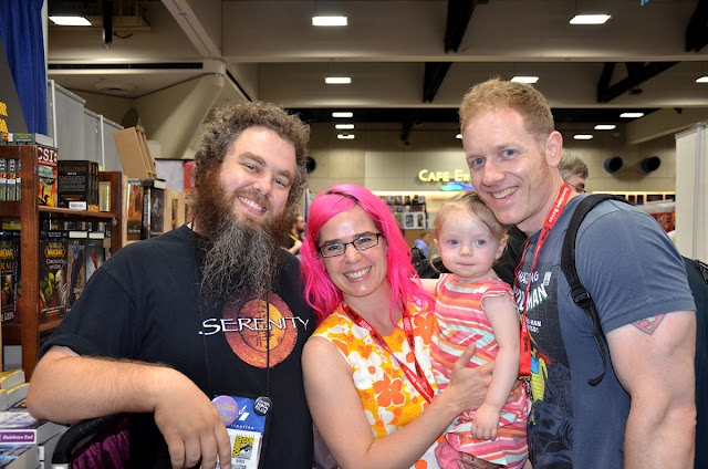 Patrick Rothfus and Laini Taylor (with baby and hubby)
