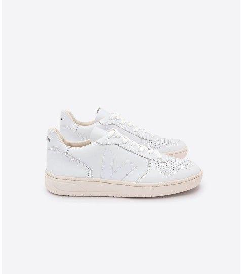 Sneackers blanches V 10 Veja.