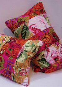 Rectangular patchwork pillows - a modern updated look.