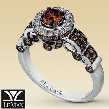 levian chocolate diamonds love the bottom detail on this ring - Chocolate Diamonds Wedding Rings