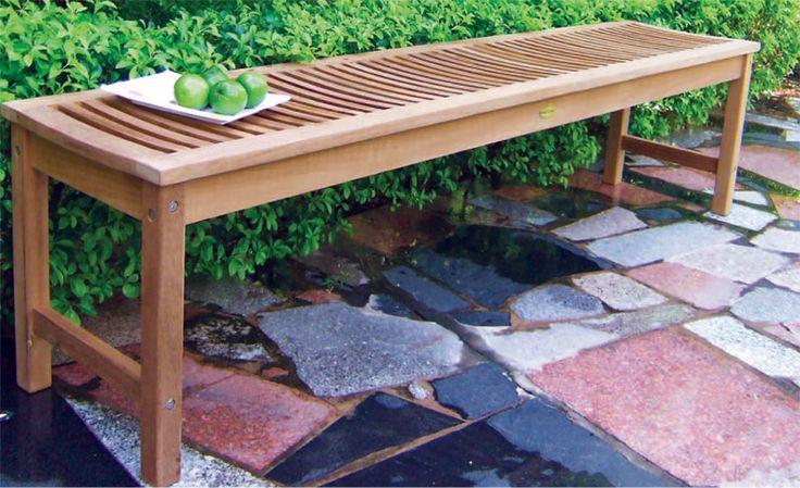 Burmese Teak Wood Outdoor Furniture - BENCH BOSTON - eur 214.00 (tax included)