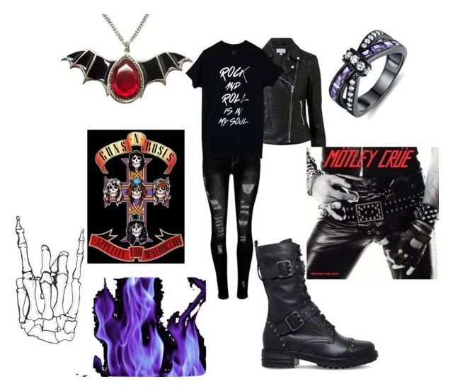 """""""Aurora's Obsessions"""" by crazedjammer ❤ liked on Polyvore featuring Witchery, KG Kurt Geiger, Barzel, alternative and Metalhead"""