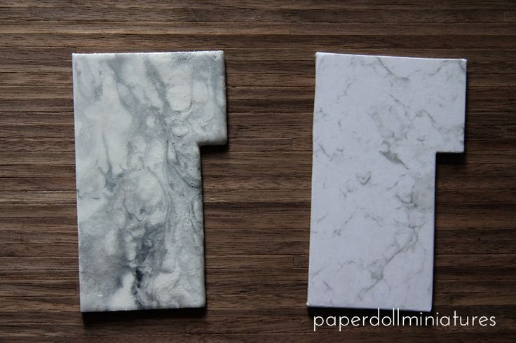 Paper Doll Miniatures: Tutorial Marble kitchen tops and cabinets with LED Lighting!