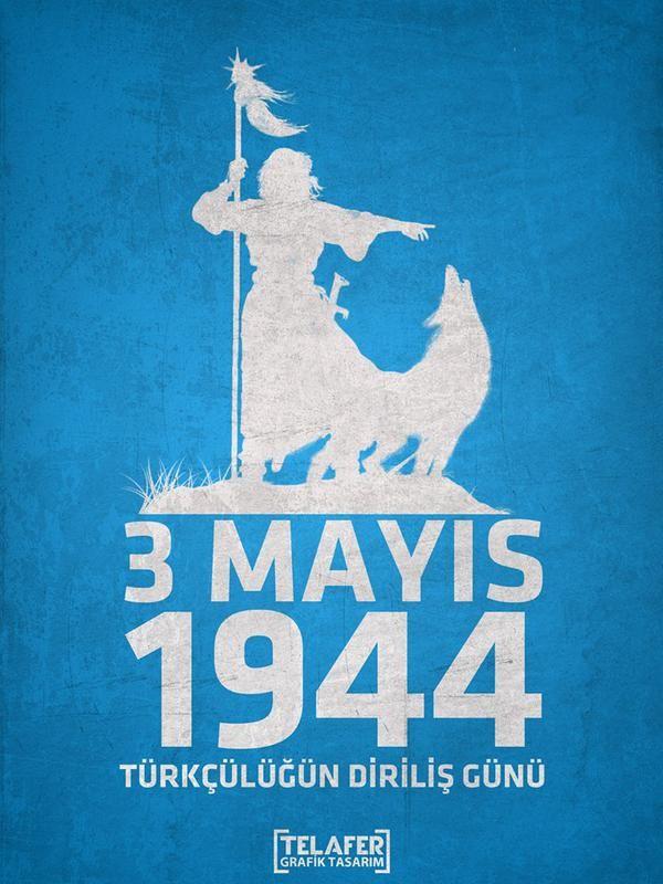 Yazın, yazdırın! Milliyetçilik günü değil bugün. Türk Günü, Türk'ün Günü!!! #TürkünGünü3Mayıs