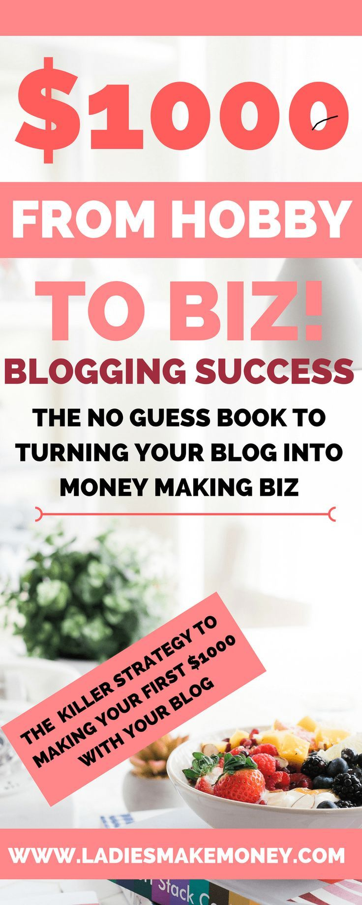 How making money from home with your blog is easy. From Hobby to biz a book dedicated to helping you make money from your blog. Learn the steps of making money online with your blog. The steps to making money blogging. Here are the steps you cam use to make money fast with your blog.