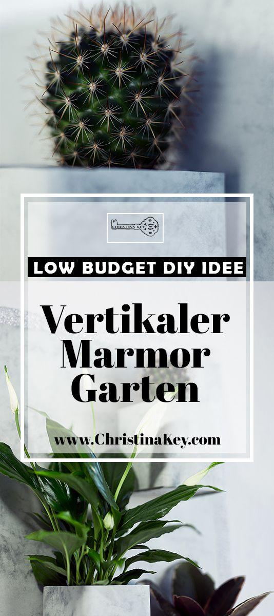 Stilvolle Interior DIY Idee mit Marmor: Vertikaler Garten für unter 5 Euro! Das perfekte Do It Yourself Projekt für graue Tage mit Wow-Faktor! Jetzt entdecken auf CHRISTINA KEY - dem Fotografie, Blogger Tipps, Rezepte, Mode und DIY Blog aus Berlin, Deutschland