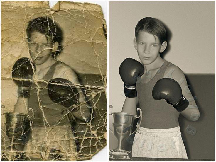Photo Restoration Cracks Removal
