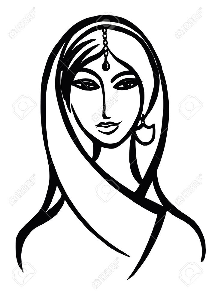 Indian Woman Face Drawing Google Search India