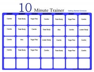 10 Minute Trainer. These workouts are awesome and not too difficult but tough enough to get results