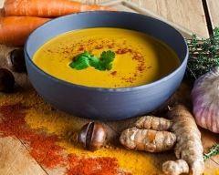 Soupe de carottes et pomme de terre au curry