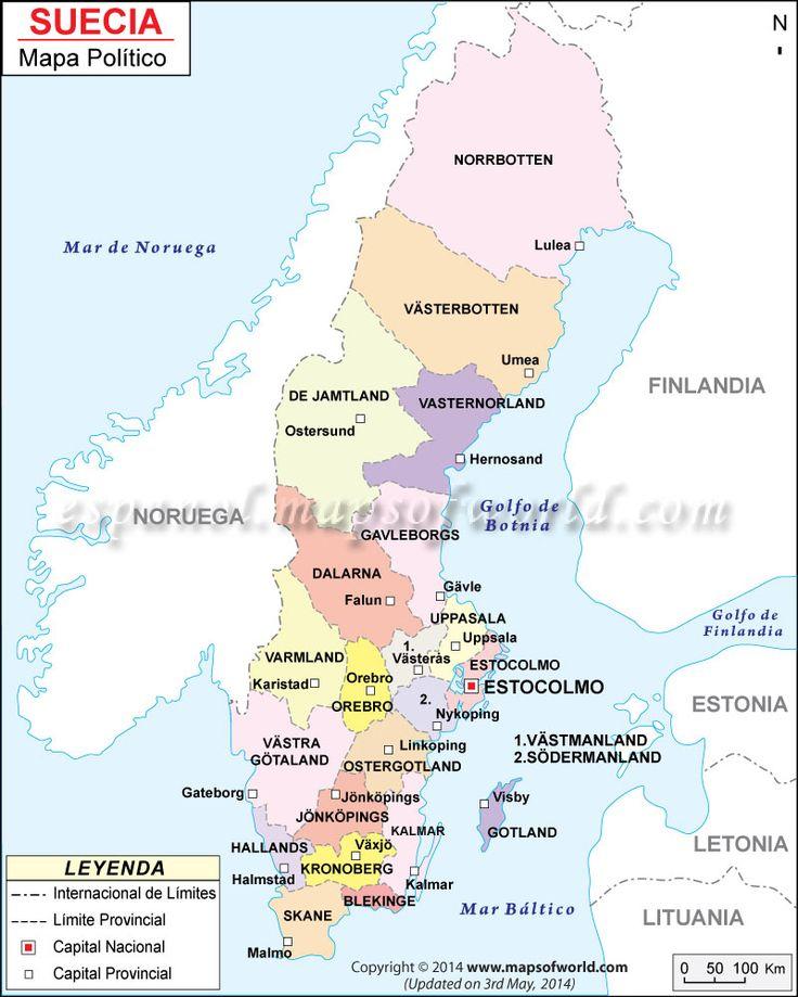 Mapa de #Suecia