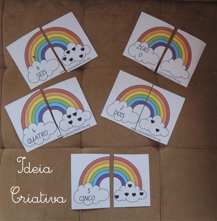 Só Jogos Pedagógicos: Jogo Pedagógico Arco-íris de Numerais
