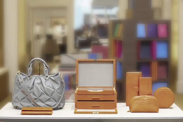 SMYTHSON defines urban travel-wear. Shop the entire spring collection here http://www.imaginefashion.com/windows/shopper/smythson!