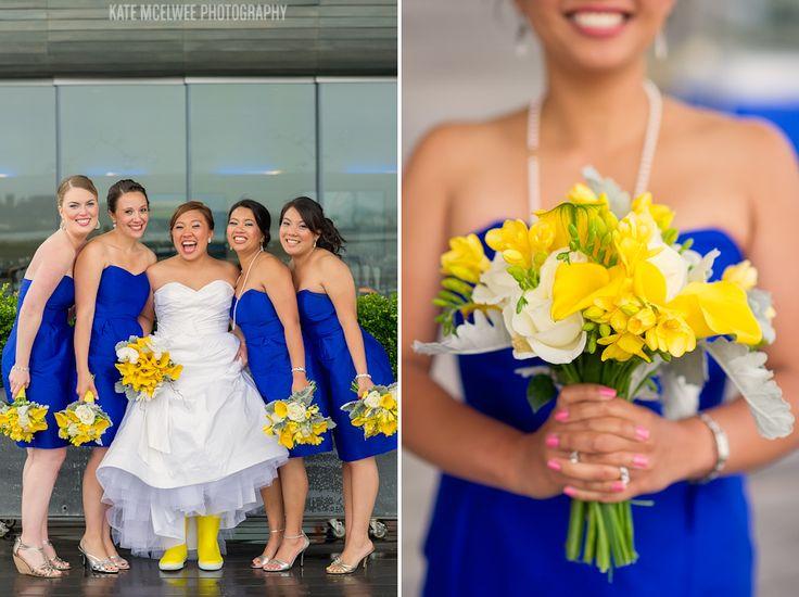blue and yellow bouquet - HOTEL MARLOWE WEDDING: KIM   EDRIC ...
