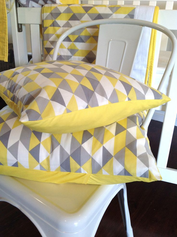 Geometric cushion cover..Cover only by AlphabetMonkey on Etsy, $45.00