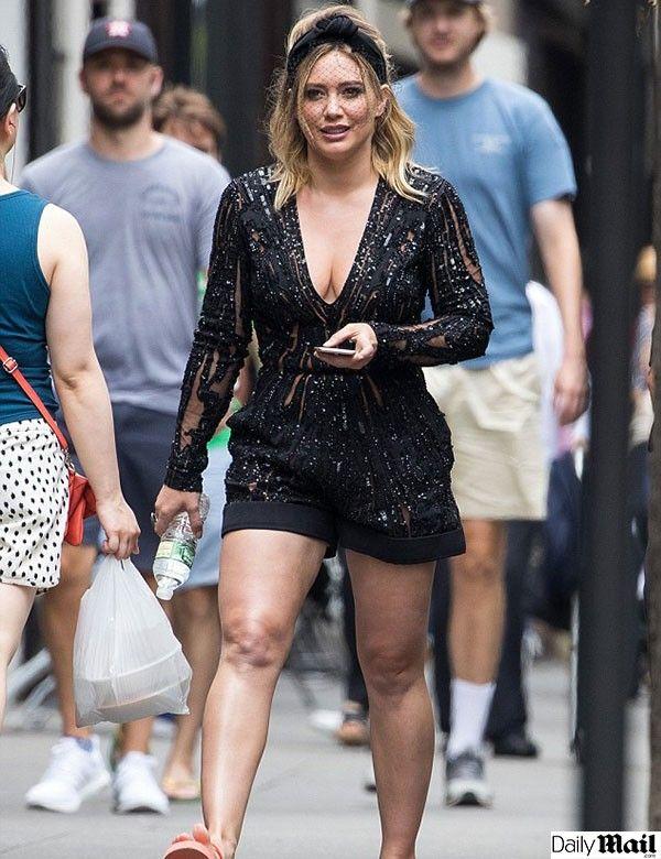 ¿Hilary Duff sube de peso drásticamente?