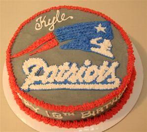 New England Patriots Cake