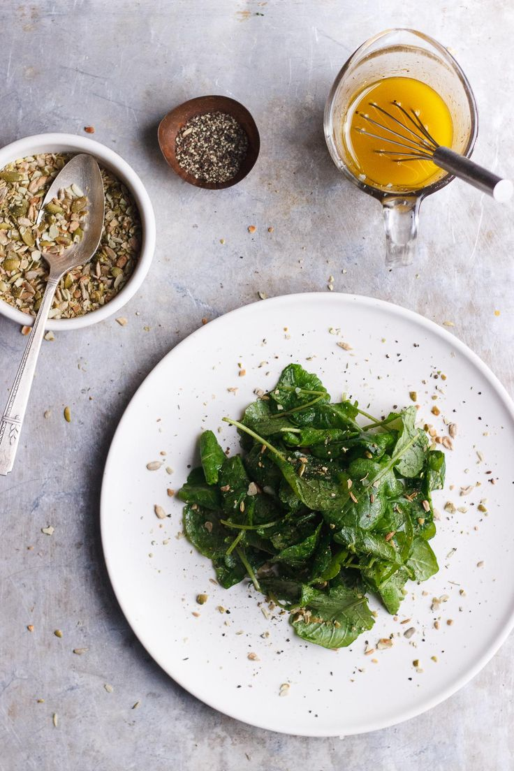 Kale Salad with Pumpkin Seed Dukkah   A simple kale salad with lemony vinaigrette and nut-free crunchy pumpkin seed dukkah. Perfect for the fall and your Thanksgiving table.