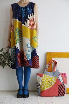 Echino fabric designed by Etsuko Furuya for Kokka Fabrics | M is for Make