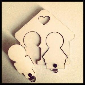 His &her sleutelbos bord-  erg leuk cadeau bij een huwelijk of samenwonen!