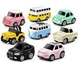 Aufziehautos Spielsachen Spielzeugauto Set Aufzieh LKW und Auto Spielzeug Druckg…