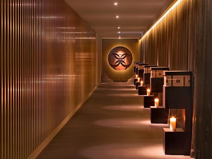 The spectacular corridor at the luxurious day spa at the Darling, Sydney.