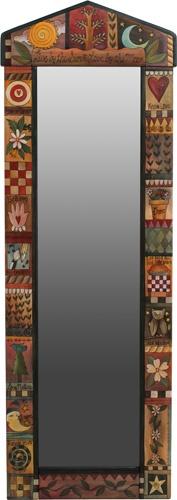 Marco de espejo pintado a mano - o con aplicaciones de mi tela antigua?
