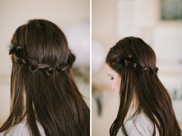 Haare flechten für offenes Haar – Knoten statt Fl…