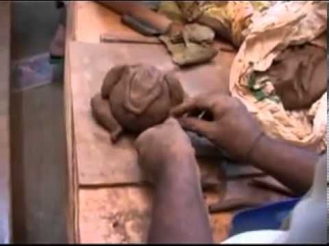 how to make ganesh idol at home with mud