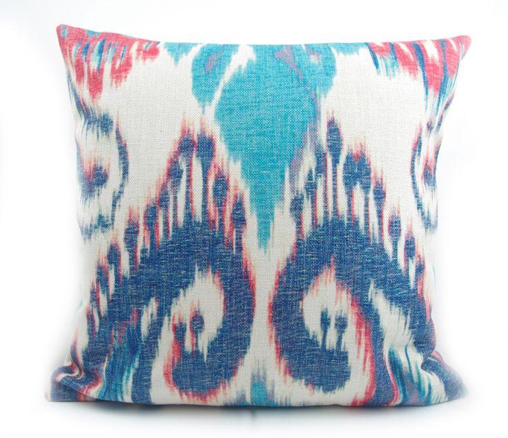 Vente directe d'usine Haut de gamme impression numérique bleu foncé ikat motif taie d'oreiller housse de coussin pour canapé look vintage décor à la maison dans Couvre-coussin de Maison & Jardin sur AliExpress.com | Alibaba Group