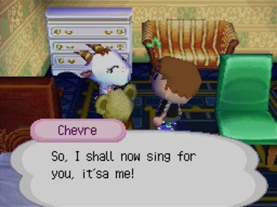 She sang me the Mario theme while using Alfonso's Mario-based catchphrase.