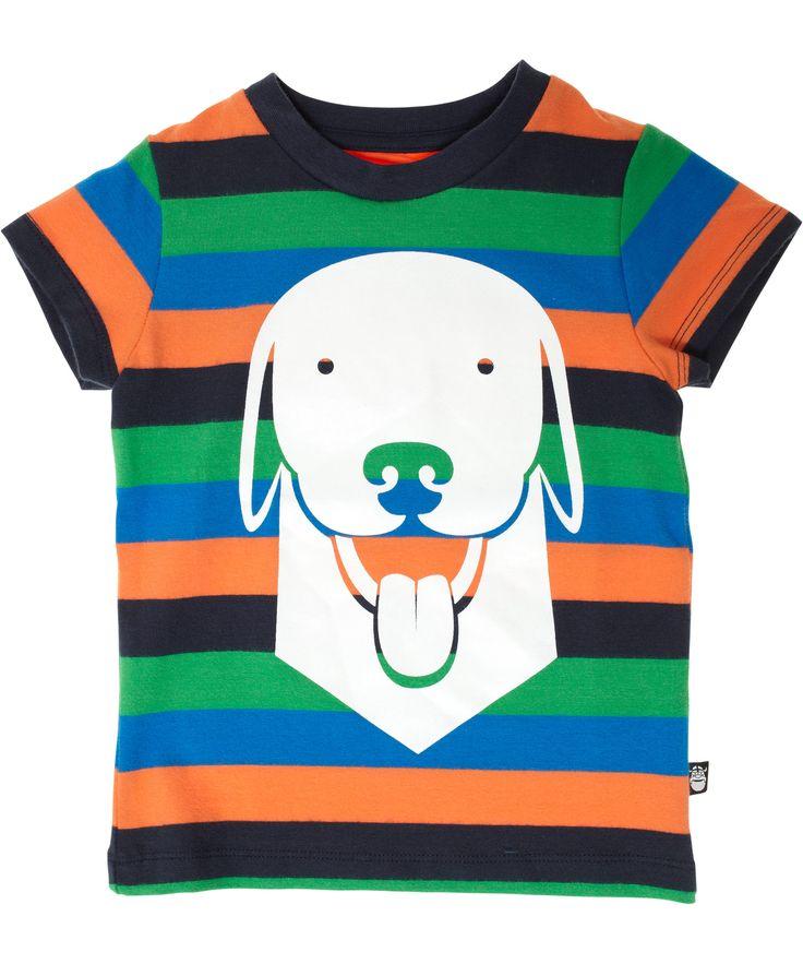 Danefæ mooi gestreepte t-shirt met coole hond. danefae.nl.emilea.be
