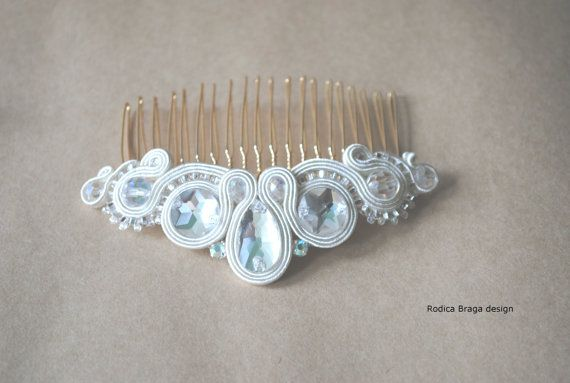 Soutache hair comb Soutache jewelry Hand by rodicasoutache on Etsy