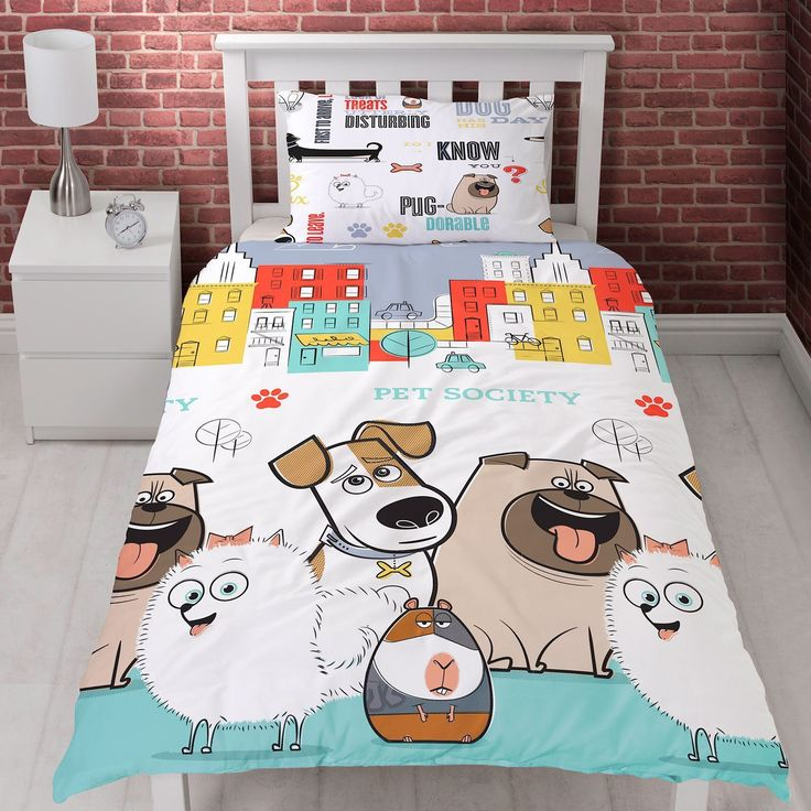 Secret Life of Pets Animals Single Quilt Cover Set. Available at Kids Mega Mart online shop Australia www.kidsmegamart.com.au