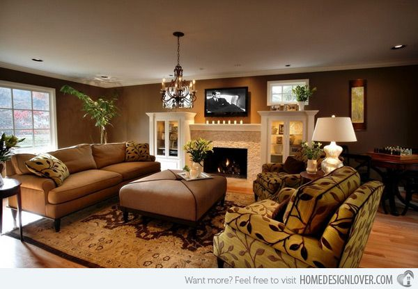 20 stunning earth toned living room designs fireplaces for Living room ideas earth tones