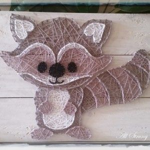 Woodlands Squirrel string art all strung up