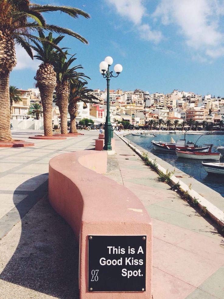 Let's kiss here! Crete, Greece | follow @shophesby for more gypset boho modern lifestyle + interior inspiration www.shophesby.com