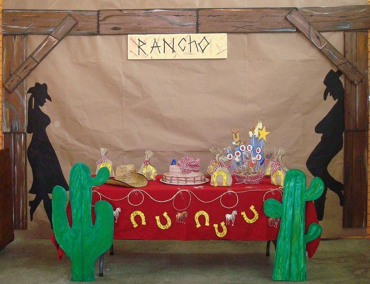 Decoracion mesa de pastel fiesta vaquera pinterest - Adornos para fiestas ...